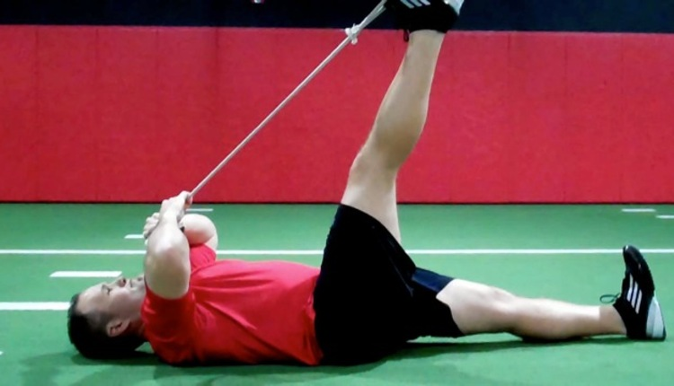 Rope straight knee HS stretch