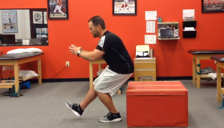 Single-leg box squat