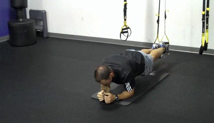 TRX Plank Push-up Start